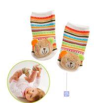 Baby Fehn csörgő zokni - Maci