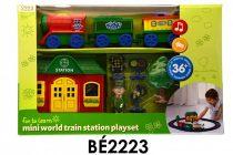 Bébi vonat klt., +állomás+fig.+kieg., el., 44*28 cm dob. S