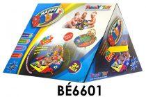 Bébi játszószőnyeg, activity, textil, el., 40*30 cm háromszög alakú dob. S