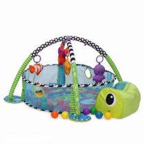Teknősbékás 3 pozíciós játszószőnyeg - 30 labdával