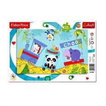 Trefl: Fisher Price puzzle - Happy Train - 15 db
