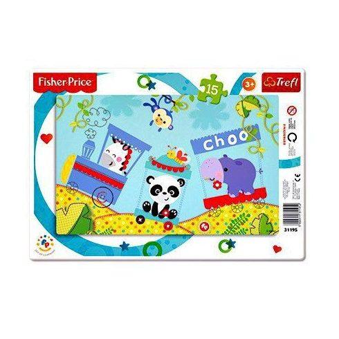 Trefl: Fisher-Price puzzle - Happy Train - 15 db