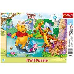 Trefl: Micimackó kincskereső puzzle 15 db-os