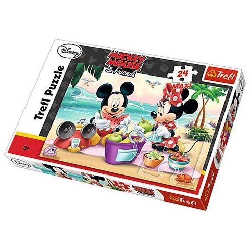 Trefl: Mickey és Minnie piknik- Maxi puzzle 24 db