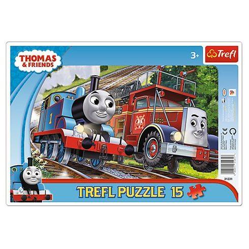 Trefl: Thomas és Félix keretes puzzle 15 db-os