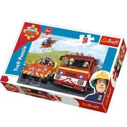 Trefl: Sam, a tűzoltó puzzle - 30 db-os