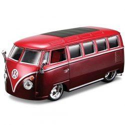 Bburago: Volkswagen Van Samba bordó autó