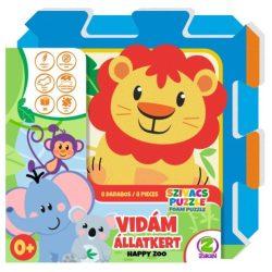 Zikin: Vidám állatkert szivacs puzzle