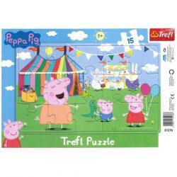 Trefl: Peppa malac keretes puzzle - 15 db