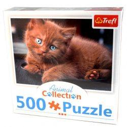 Trefl: Animal Collection: Barna cica puzzle - 500