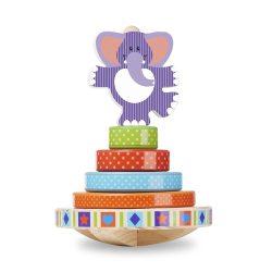 Melissa & Doug Fa készségfejlesztő játék, Egyensúlyozó elefánt