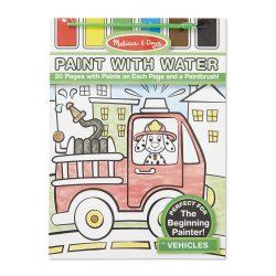 Melissa & Doug Kreatív játék, Festés vízzel, járművek