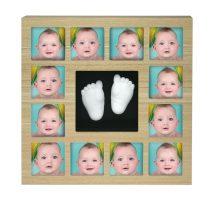 Label-Label Képkeret - Az első 12 hónapom + 1 lenyomat - Barna