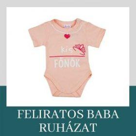 Feliratos bébi ruházat
