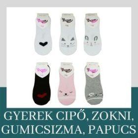 Gyerek cipő, zokni, papucs, mamusz