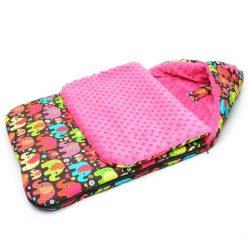 Babakocsi bundazsák - Tarka elefáni pink