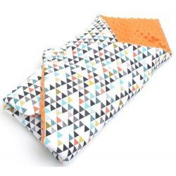 Prémium pólya - Minky színes háromszögek